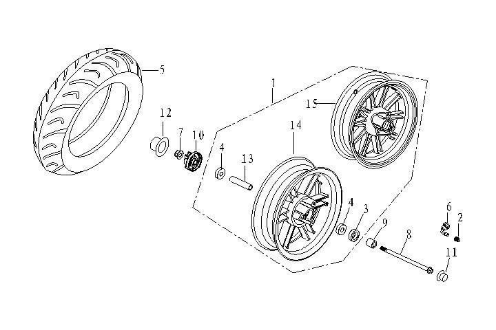 Framhjul - Hastighetsgivare