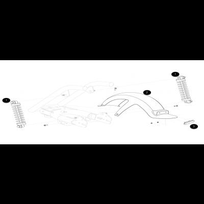 Bakskärm - Stötdämpare - Sving