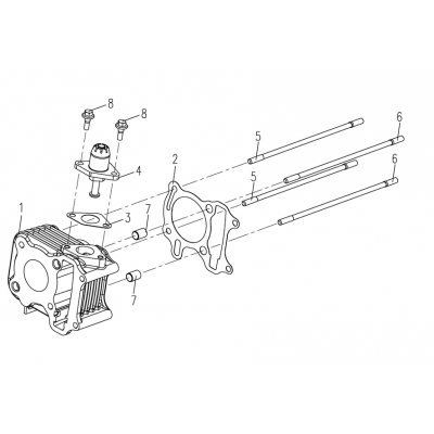 Cylinder - Kedjesträckare