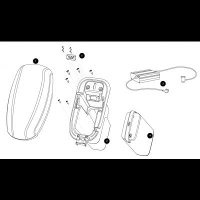 Sadel - Batteri - Laddare