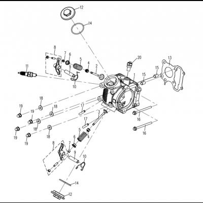 Topplock - Tändstift - Temperaturgivare