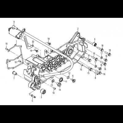Vänster motorkåpa - Startmotor