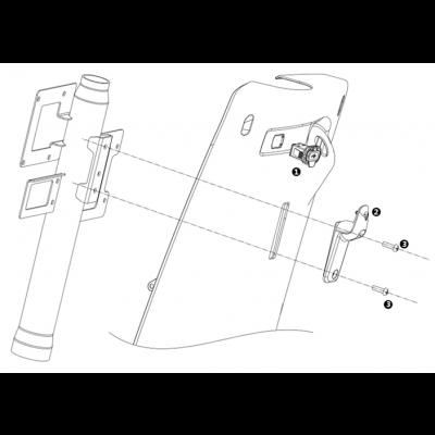Hjälmkrok - USB-uttag