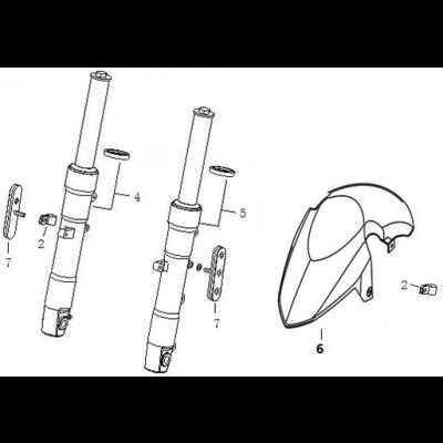 Framgaffel - Framskärm