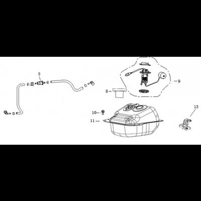 Bränsletank - Bränslepump - Tankgivare