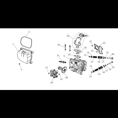 Topplock - Insugsrör - Tändstift