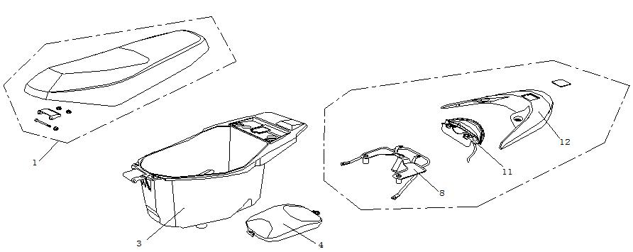 Sadel - Sadellåda - Pakethållare