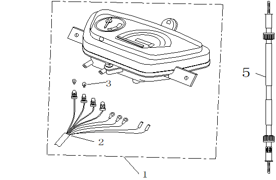 Instrumentpanel - Hastighetsmätarvajer