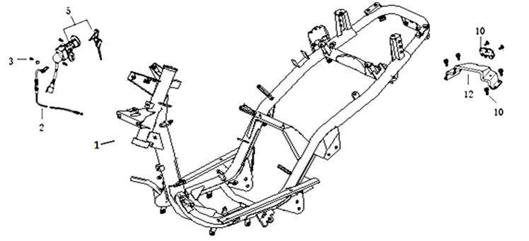 Tändningslås - Sadellåsvajer - Ram