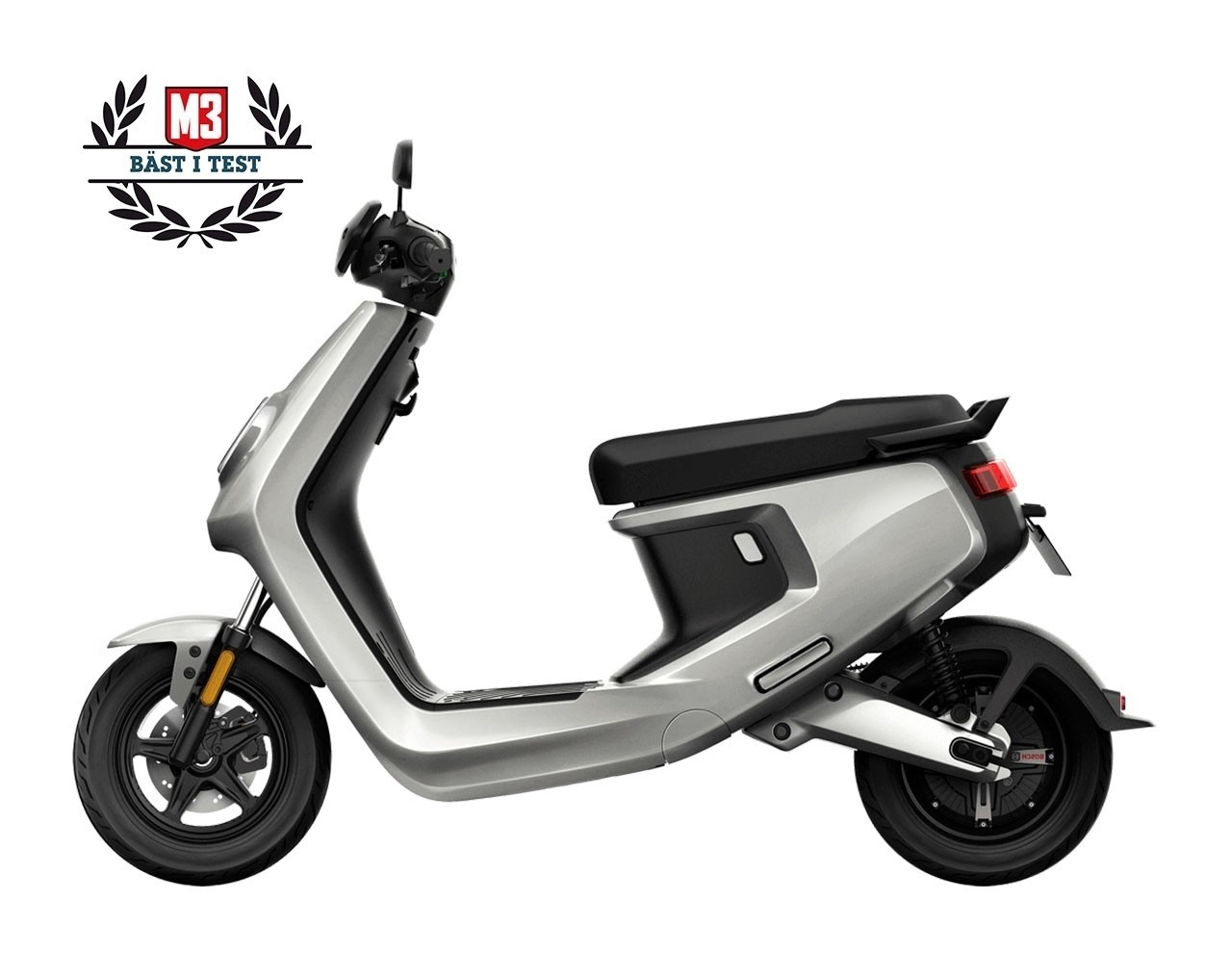 NIU MQi+ Sport Extended Range 45km/h Silver Euro4
